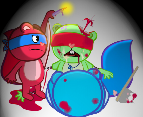 juego de tree friends happy Rick and morty jerry penis
