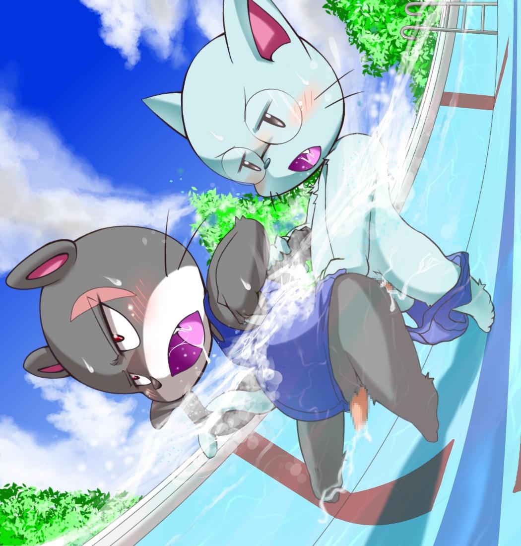 natsu tail x juvia fairy Super lucky's tale