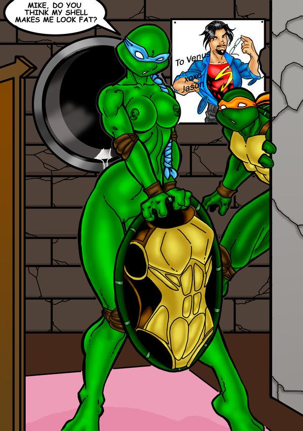 de turtles venus ninja milo Evil woman full moon night