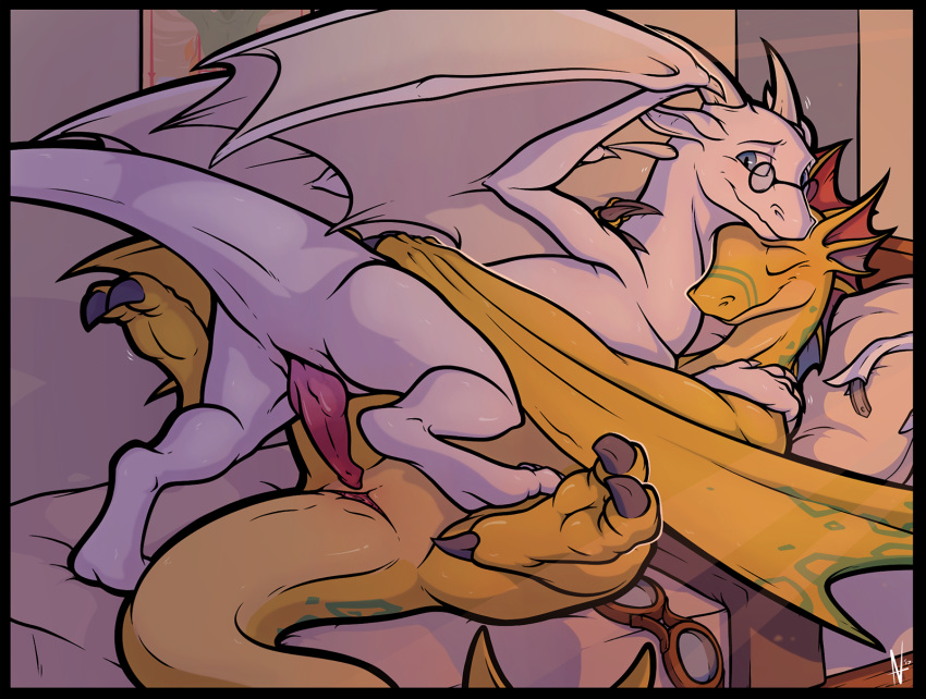 with scaly characters angels wings Boy to girl tg animation