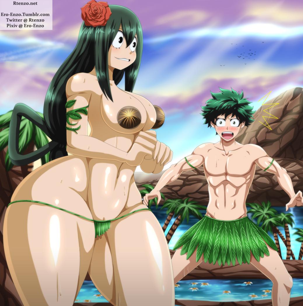 hero asui boku no academia tsuyu Negligee: love stories nudity