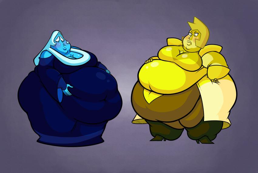 diamond blue and yellow steven universe Sandra and woo