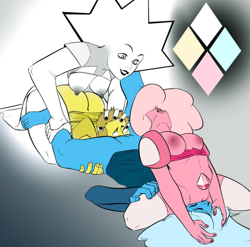 steven diamond and universe blue pink Ano harewataru sora yori takaku